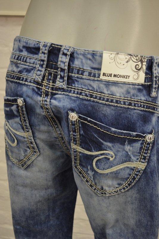 blue monkey coole damen jeans hose w33 l34 blau denim m. Black Bedroom Furniture Sets. Home Design Ideas