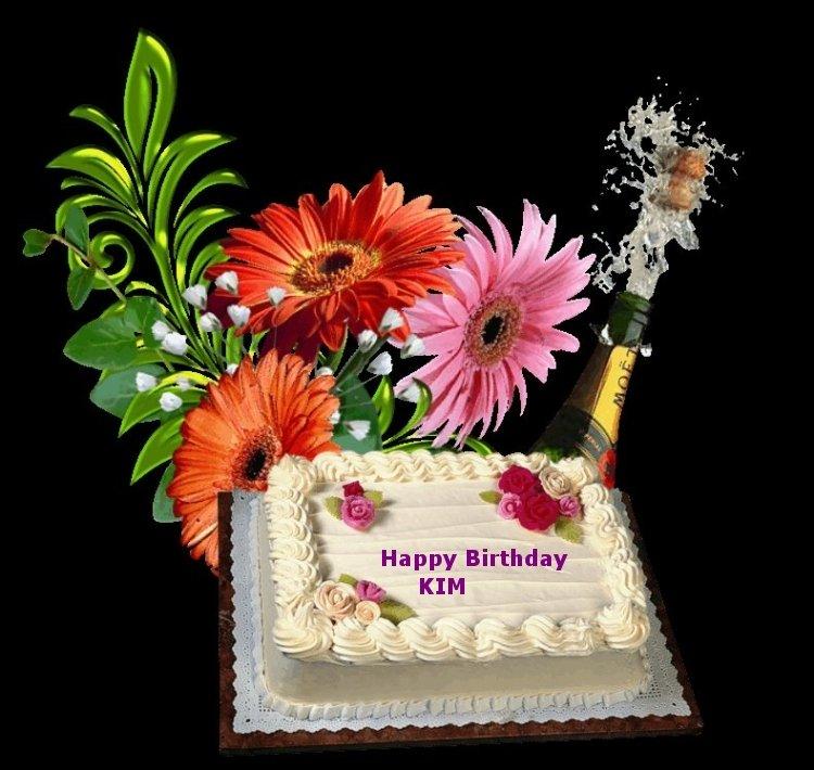 Happy Birthday Kim Cake