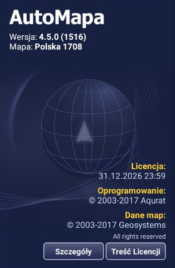 AutoMapa 4.5.0 |1516| Polska 1708 Final |Android|