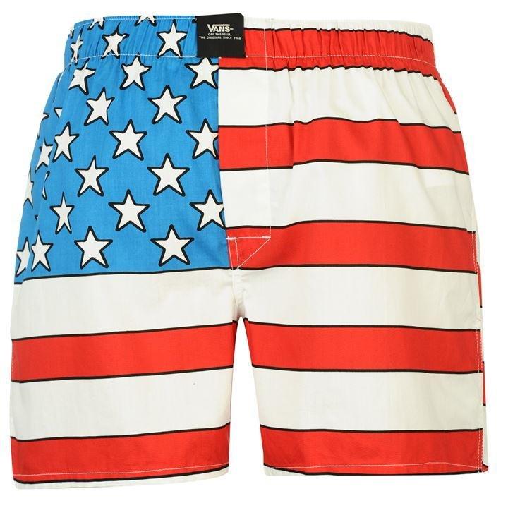 Details zu ✅ VANS American Flag Fahne Herren Boxershorts Unterhose Unterwäsche Slip Short