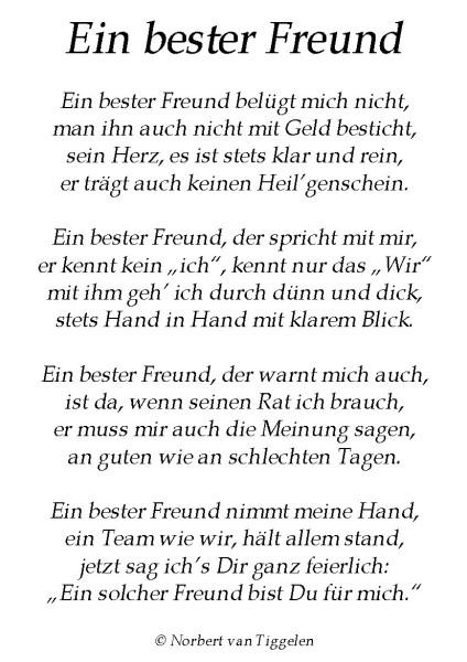 Freund Gedicht Bester